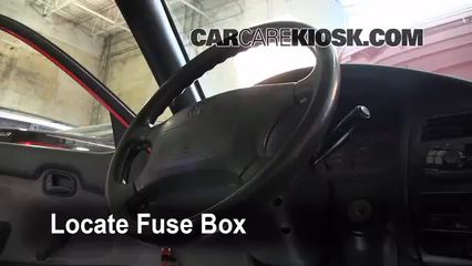 Interior Fuse Box Location: 1993-1997 Geo Prizm - 1993 Geo ...