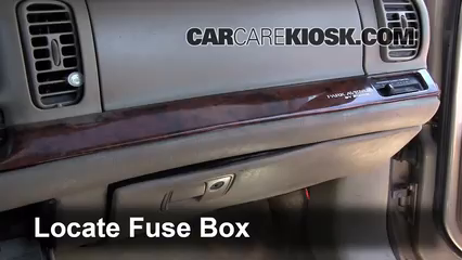 interior fuse box location 1997 2005 buick park avenue Buick Regal Buick Lucerne