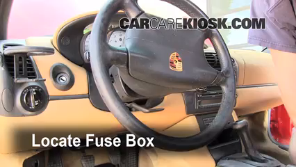 Interior    Fuse    Box Location  19972004    Porsche       Boxster