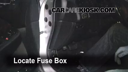 interior fuse box location   acura tl