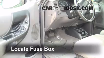 Interior Fuse Box Location 1998 2005 Ford Ranger 1999