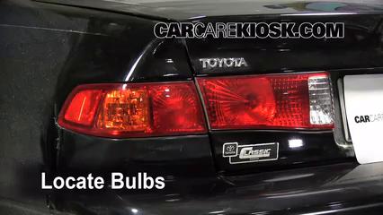 Tail Light Change 1997-2001 Toyota Camry - 2000 Toyota ...