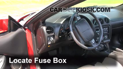 Interior Fuse Box Location 1993 2002 Pontiac Firebird