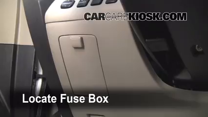 Interior Fuse Box Location 2001 2007 Toyota Highlander