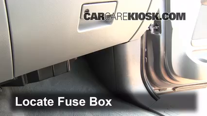 Interior Fuse Box Location 2003 2006 Ford Expedition
