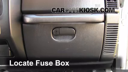 Interior Fuse Box Location 1997 2006 Jeep Wrangler 2004