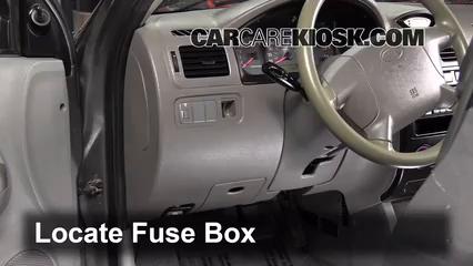 interior fuse box location 2001 2005 kia rio 2004 kia