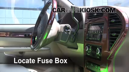 interior fuse box location   buick rendezvous