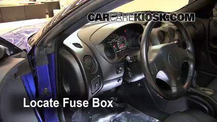 interior fuse box location 2000 2005 mitsubishi eclipse