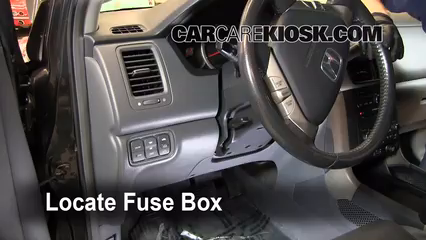 where are fuse boxes located in a 2000 honda civic interior    fuse    box location 2003 2008    honda    pilot 2005  interior    fuse    box location 2003 2008    honda    pilot 2005
