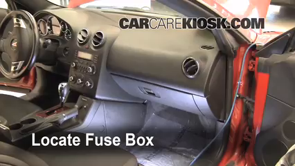Interior Fuse Box Location 2005 2010 Pontiac G6 2007