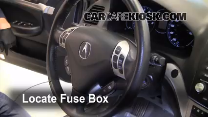 Interior Fuse Box Location 2004 2008 Acura TSX 2008