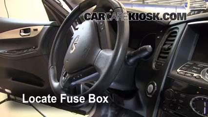 interior fuse box location 2008 2012 infiniti ex35 2008