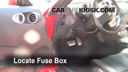 Interior Fuse Box Location 2003 2009 Nissan 350z 2008 Nissan 350z 3 5l V6