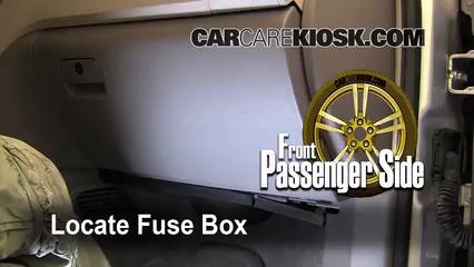 Interior Fuse Box Location 2009 2012 Chevrolet Traverse