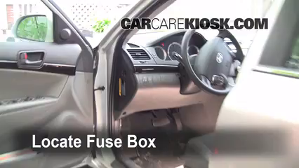 Interior Fuse Box Location 2006 2010 Hyundai Sonata