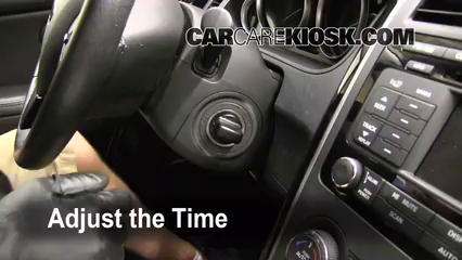 How To Set The Clock On A Mazda Cx 9 2007 2014 2009