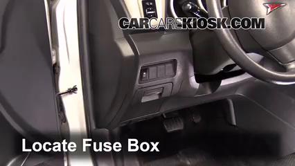 Interior Fuse Box Location: 2009-2010 Pontiac Vibe - 2009 ...
