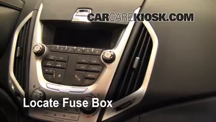 Interior Fuse Box Location 2010 2014 Gmc Terrain 2010