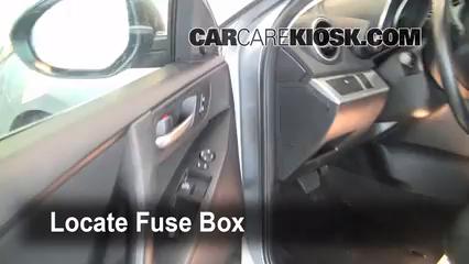 interior fuse box location 2010 2013 mazda 3 2010 mazda 3 i 2 0l 4 cyl