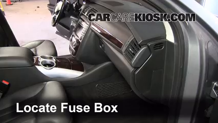 interior fuse box location 2006 2012 mercedes r350 2010 mercedes r350 4matic 3 5l v6