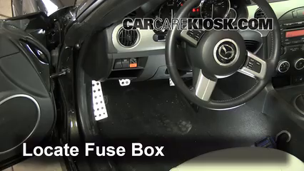 interior fuse box location 2006 2014 mazda mx 5 miata