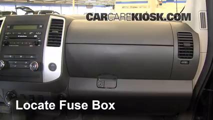 interior fuse box location 2005 2014 nissan xterra 2011 nissan xterra s 4 0l v6