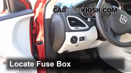 interior fuse box location   dodge dart