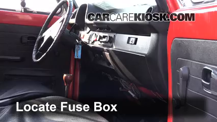 interior fuse box location 1967 1979 volkswagen beetle 1976 interior fuse box location 1967 1979 volkswagen beetle 1976 volkswagen beetle 1 6l 4 cyl convertible