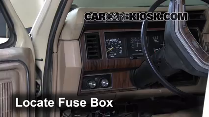 Interior    Fuse    Box Location  19831986    Ford       F250     1984