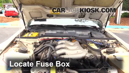 blown fuse check 2008 2010 porsche cayenne 2010 porsche cayenne locate engine fuse box and remove cover