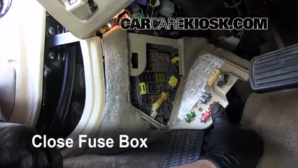 Interior Fuse Box Location 1991 1995 Acura Legend 1993
