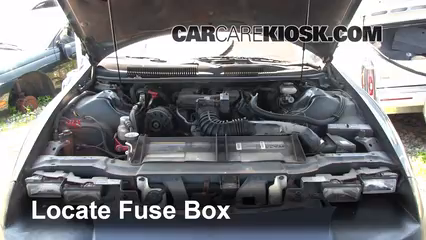 replace a fuse chevrolet camaro chevrolet camaro locate engine fuse box and remove cover
