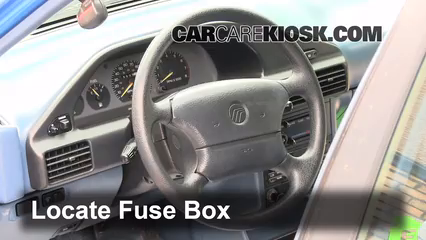 interior fuse box location 1991 1996 ford 1993 ford lx 1 9l 4 cyl hatchback 4