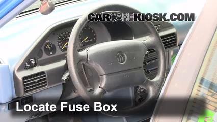 interior fuse box location 1991 1996 ford escort 1993. Black Bedroom Furniture Sets. Home Design Ideas