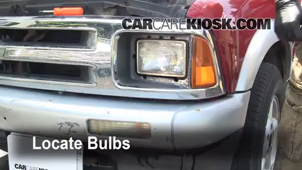 how to change front turn signal bulb chevy express