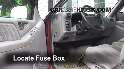 interior fuse box location 1995 1997 chevrolet blazer 94 trooper fuse box diagram