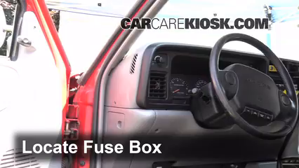 interior fuse box location 1994 2001 dodge ram 1500 1997 dodge interior fuse box location 1994 2001 dodge ram 1500 1997 dodge ram 1500 5 2l v8 extended cab pickup