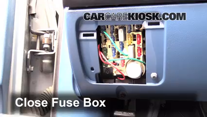 Interior Fuse Box Location     1990   1997    Ford    F250  1995