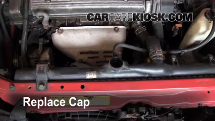 coolant flush how to geo prizm 1993 1997 1993 geo prizm 1 6l replace the radiator cap