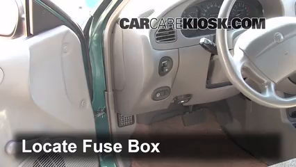 interior fuse box location mercury tracer  locate interior fuse box and remove cover