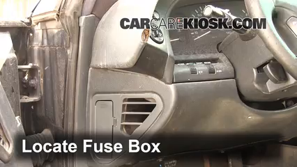 interior fuse box location 1995 1999 oldsmobile aurora 1995 locate interior fuse box and remove cover