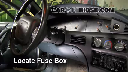 interior fuse box location pontiac bonneville  locate interior fuse box and remove cover