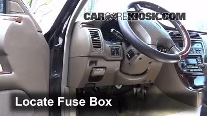 Interior Fuse Box Location 2002 2006 Infiniti Q45 2002