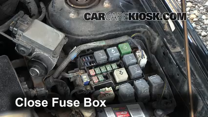 blown fuse check 1998 2002 mazda 626 1998 mazda 626 lx 2 0l 4 cyl 6 replace cover secure the cover and test component