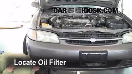 Oil  Filter Change Nissan Altima 19982001  1998 Nissan Altima