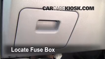 Interior Fuse Box Location  19982001    Nissan       Altima     1998    Nissan       Altima    GXE 24L 4 Cyl