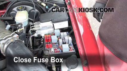 blown fuse check chevrolet blazer chevrolet 6 replace cover secure the cover and test component