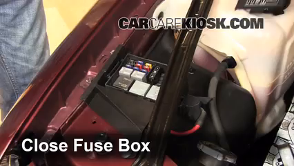replace a fuse chevrolet monte carlo chevrolet 6 replace cover secure the cover and test component