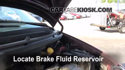 1996 2000 Dodge Caravan Brake Fluid Level Check 1999